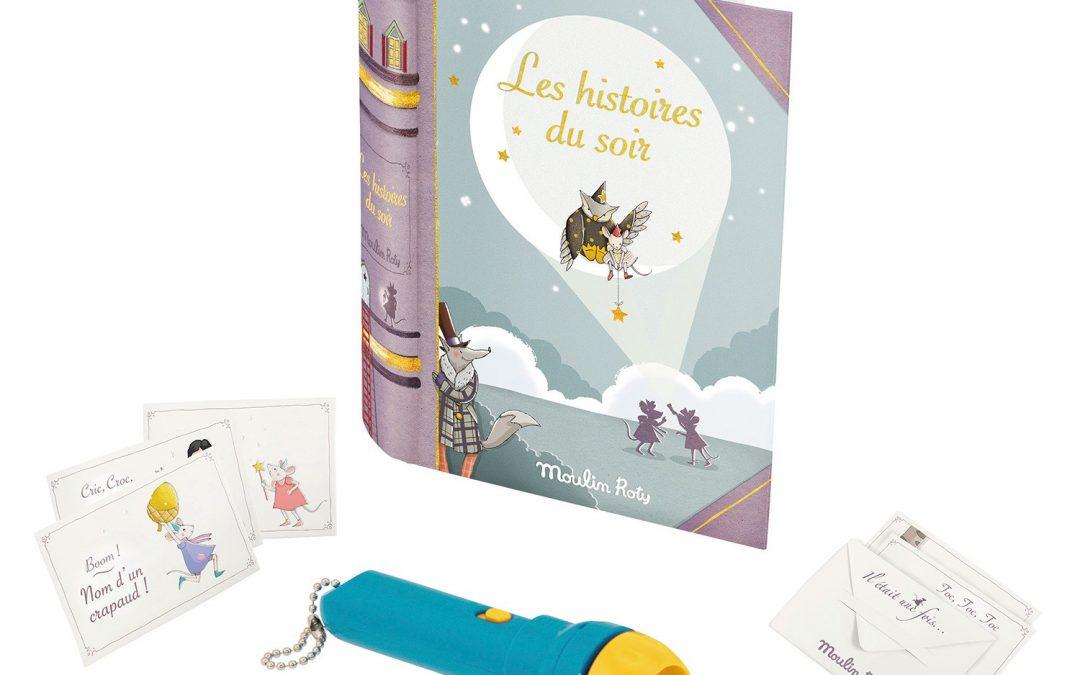 Le coffret lampe à histoires offert par le site Jeujouet